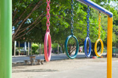 Children playground park in school. Royalty Free Stock Image