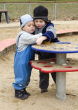 Children at playground Royalty Free Stock Photo