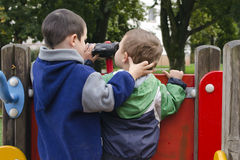 Children at playground Stock Photo
