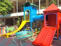 Children Playground in School Stock Image