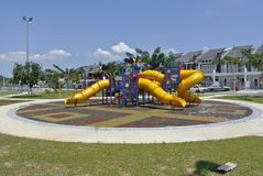 Children Playground in Seremban. This playground located at housing area in Seremban, Malaysia. It was design with few different themes to give different Stock Images