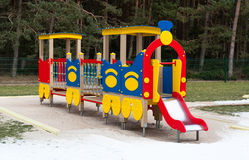 Playground train Stock Images