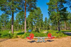 Children Playground in Summer Camping Site Royalty Free Stock Photography