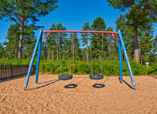 Children Playground in Summer Camping Site Royalty Free Stock Image