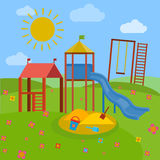 Children Playground vector Royalty Free Stock Images