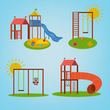 Children Playground vector Royalty Free Stock Photography