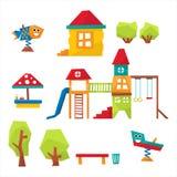 Children Playground Vector Illustration Royalty Free Stock Photography