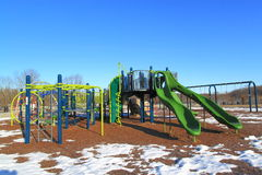 Children Playground Winter Royalty Free Stock Image