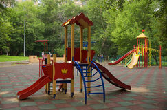 Children playground in the yard Stock Photography