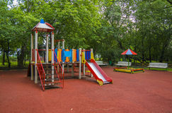 Children playground in the yard Stock Photos