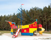 Playground ship Stock Images