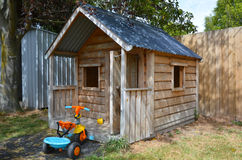 Children playhouse in the yard Royalty Free Stock Photo