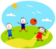 Children playing. A illustration of playground and children Stock Images