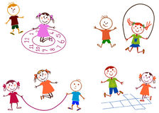 Children playing. A illustration of playground and children Stock Photos
