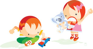 Children are playing Royalty Free Stock Images