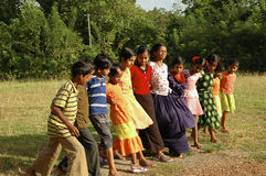Children playing in Andamans. Andaman children playing, India Asia royalty free stock photos