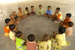 Children playing in Andamans. Andaman children playing, India Asia royalty free stock image