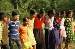 Children playing in Andamans. Andaman children playing, India Asia royalty free stock photo