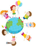 Children playing around the world Royalty Free Stock Image