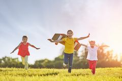 Free Children Playing Astronaut Stock Images - 119663914