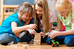 Free Children Playing At Home Royalty Free Stock Photos - 20446258