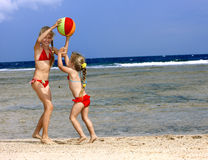 Children  playing with ball. Stock Photos