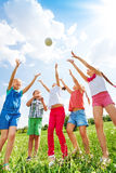 Children playing with a ball Stock Photography