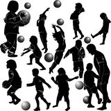 Children playing ball Stock Images