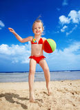 Children  playing on  beach. Stock Photography