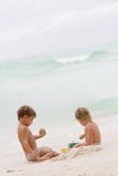 Children playing on beach Royalty Free Stock Photography