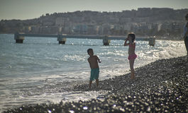 Children playing on the beach Royalty Free Stock Photography