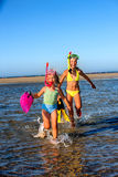 Children playing on  beach Royalty Free Stock Photos