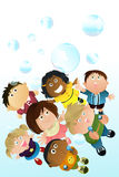 Children Playing Bubbles Stock Photography