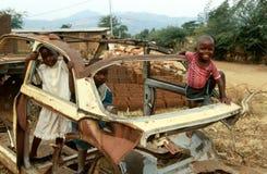 Children playing in Burundi. Royalty Free Stock Photos