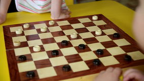 Children Playing Checkers stock video