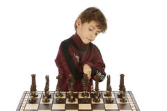 Children playing in chess Stock Photos