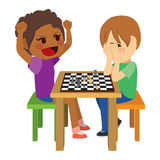 Children Playing Chess Stock Photography