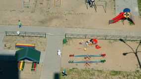 Children playing on the children's playground stock video footage