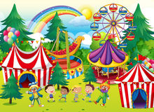 Children playing in the circus Stock Photos