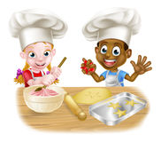 Children Playing at Cooking Stock Image