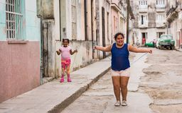 Children Playing In Cuba stock photography