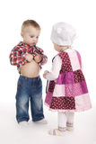 Children are playing doctor with stethoscope Royalty Free Stock Photography