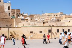 Children playing in Fez Morocco royalty free stock photography