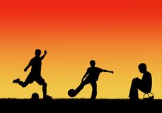 Children playing footbal royalty free illustration