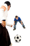 Children playing football Royalty Free Stock Photos