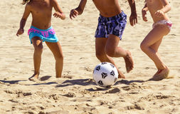 Children playing football Royalty Free Stock Image