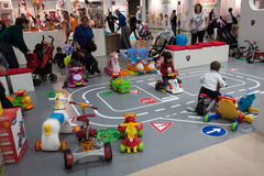 Children playing at G! come giocare in Milan, Italy Stock Photos