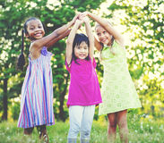 Children Playing Girls Togetherness Happiness Leisure Concept Royalty Free Stock Image