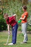 Children playing golf Royalty Free Stock Images