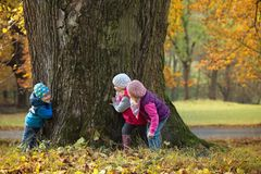 Free Children Playing Hide And Seek Royalty Free Stock Photo - 62444295